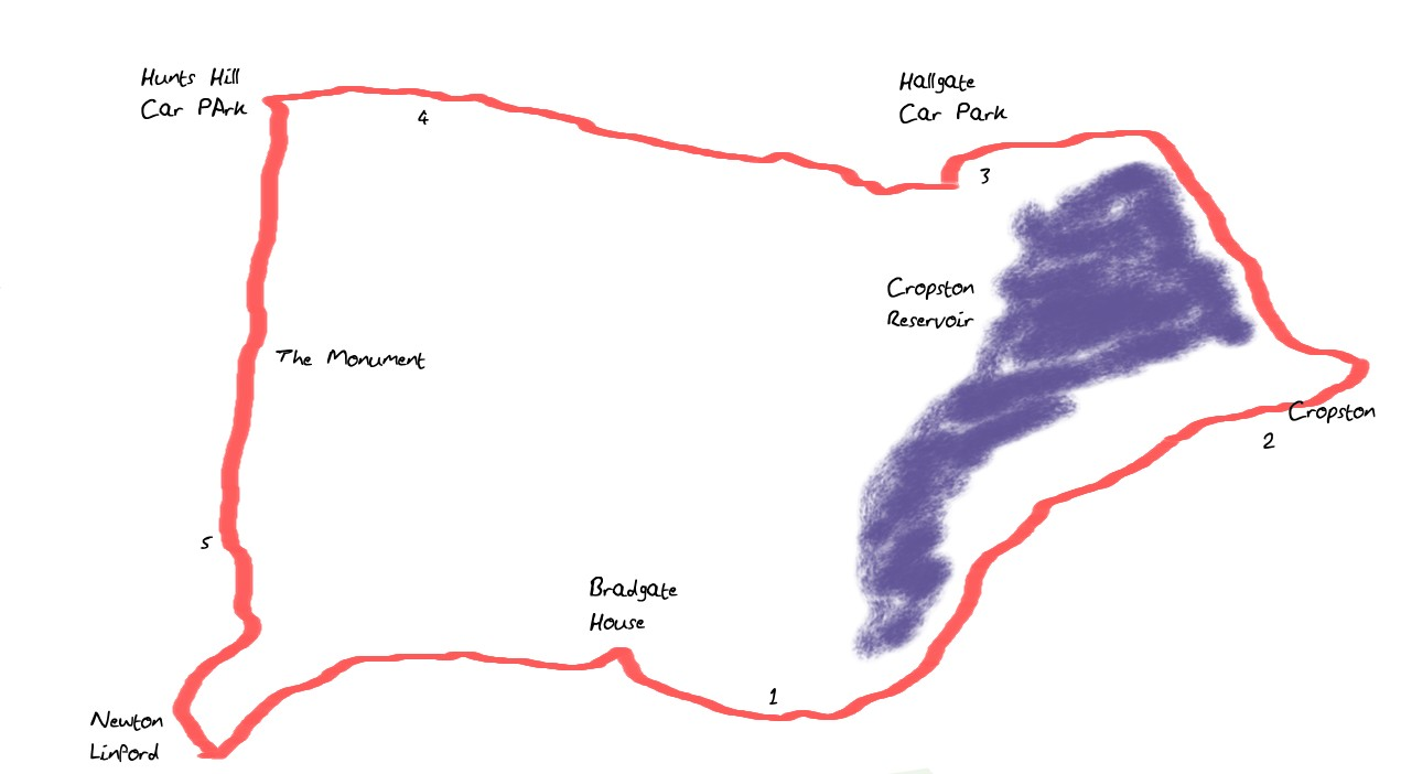 bradgate 5 mile run route