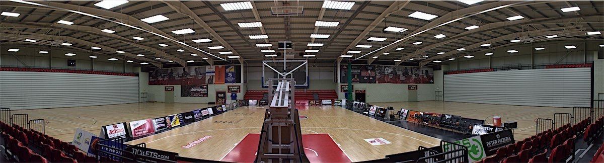 city of leicester staium riders basketball